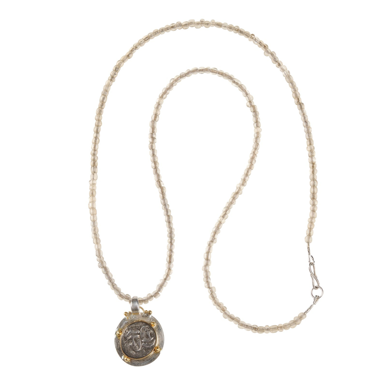 Istros Gemini Coin Pendant Necklace