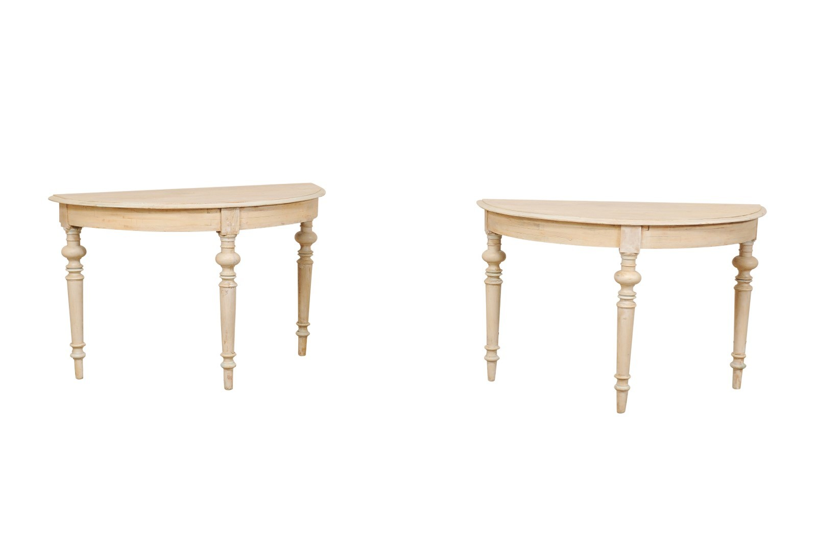 Swedish Half-Moon Console Tables