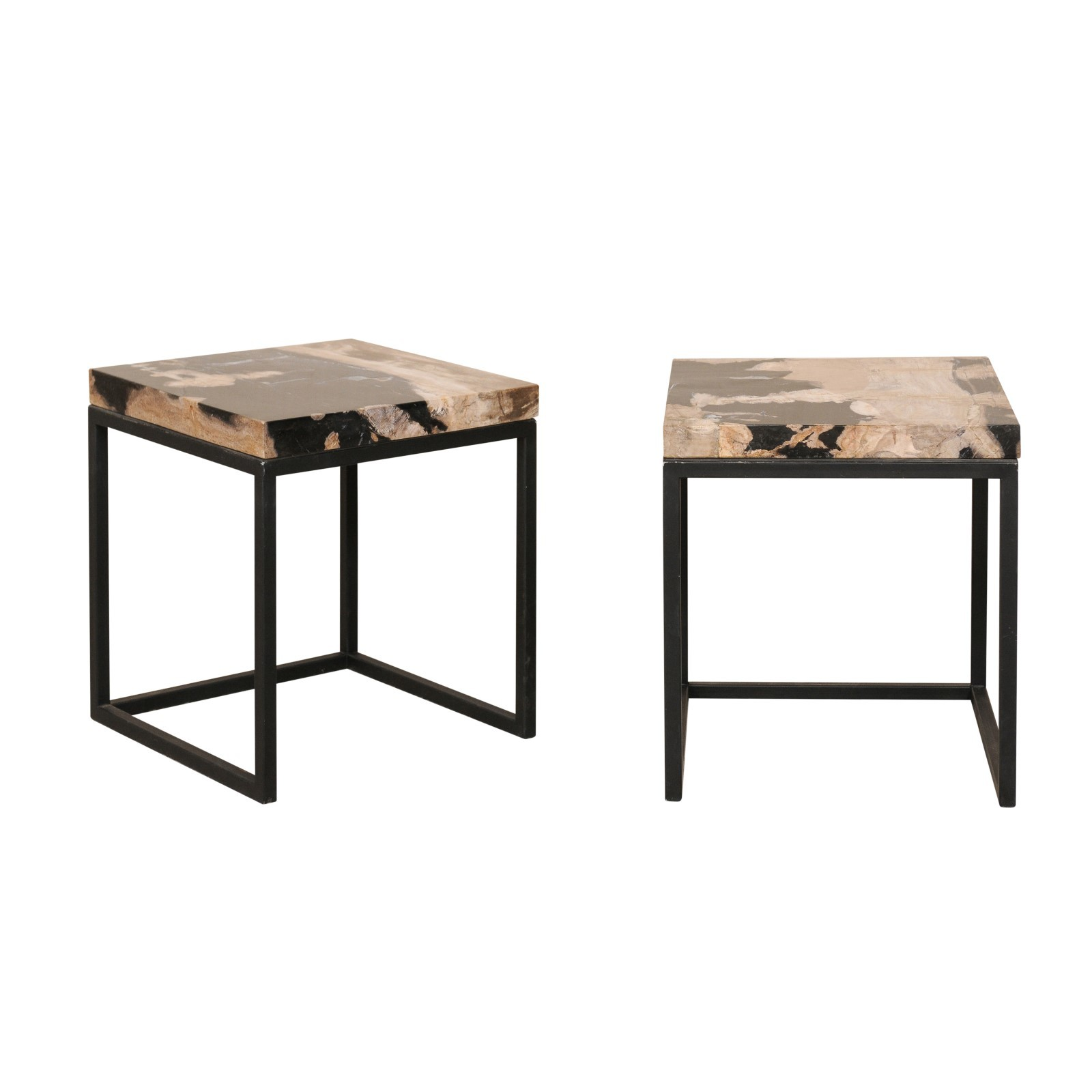 Petrified Wood Top Drinks Tables