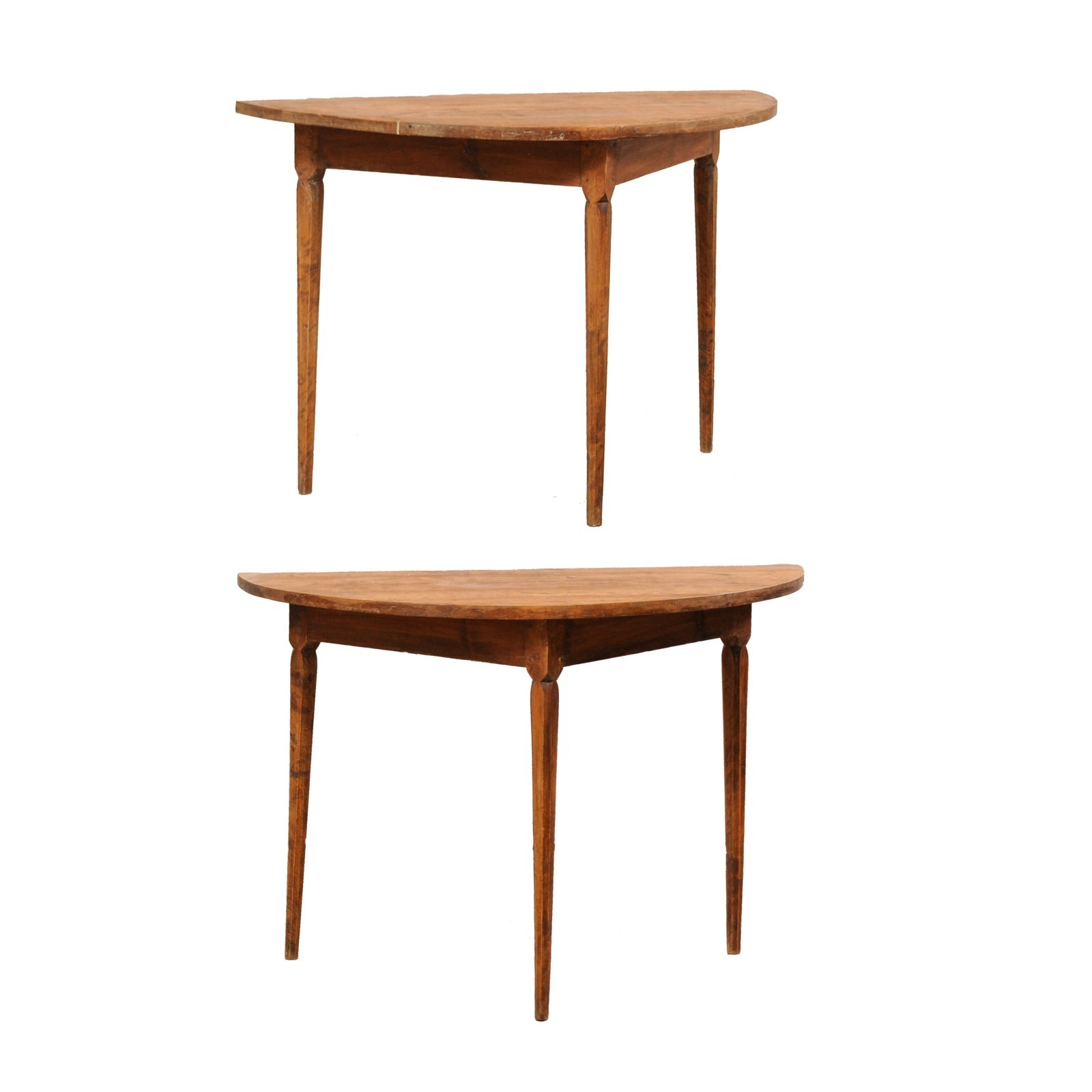 Swedish 19th C. Demi-Lune Tables