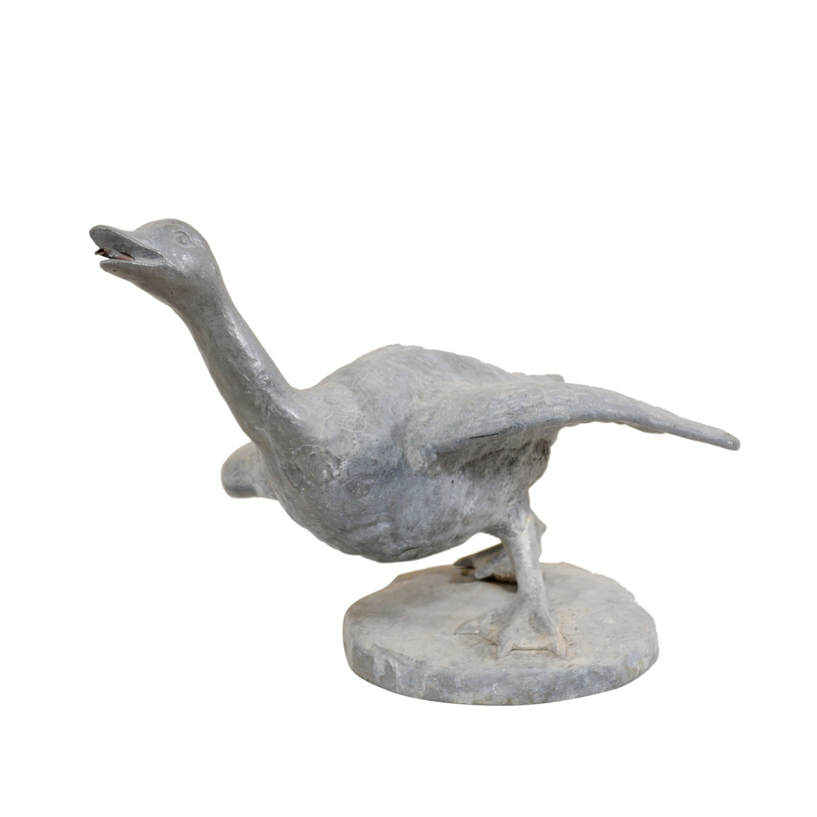 French Garden Goose Statue, 19th C.