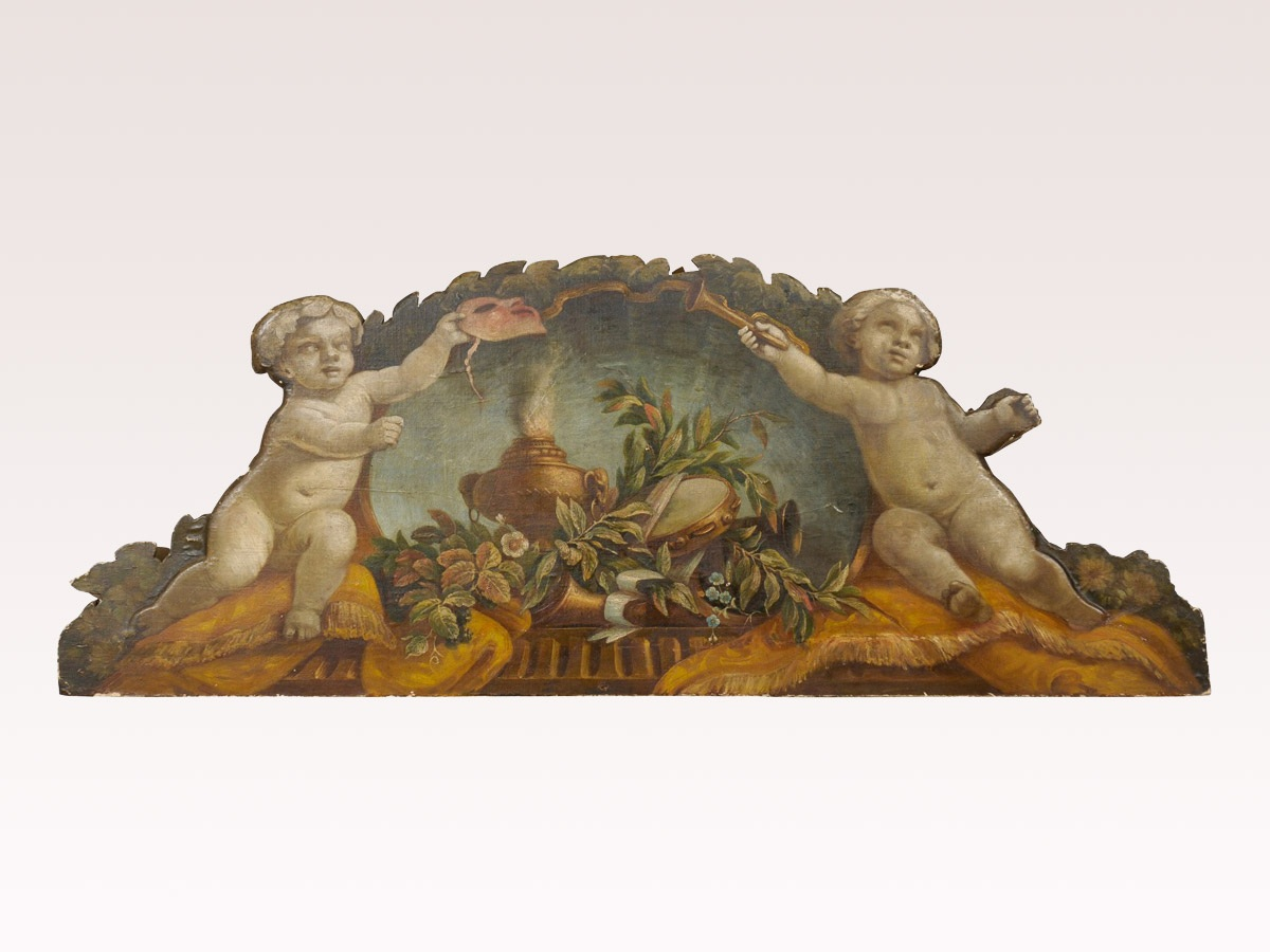 A 19th C Painted Italian Panel
