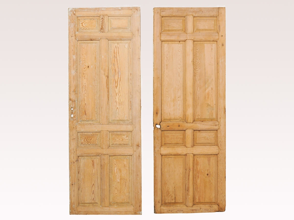 Two French 19th C. Single Doors