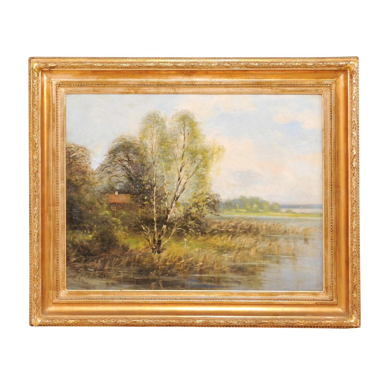 A Landscape by Water Oil Painting