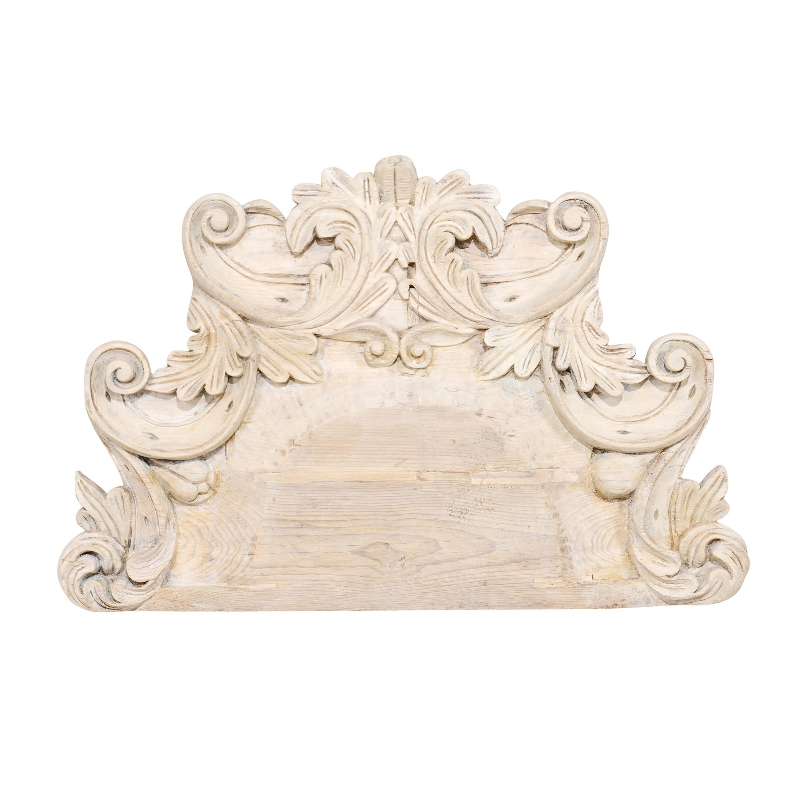 Ornately Carved Wood Wall Plaque