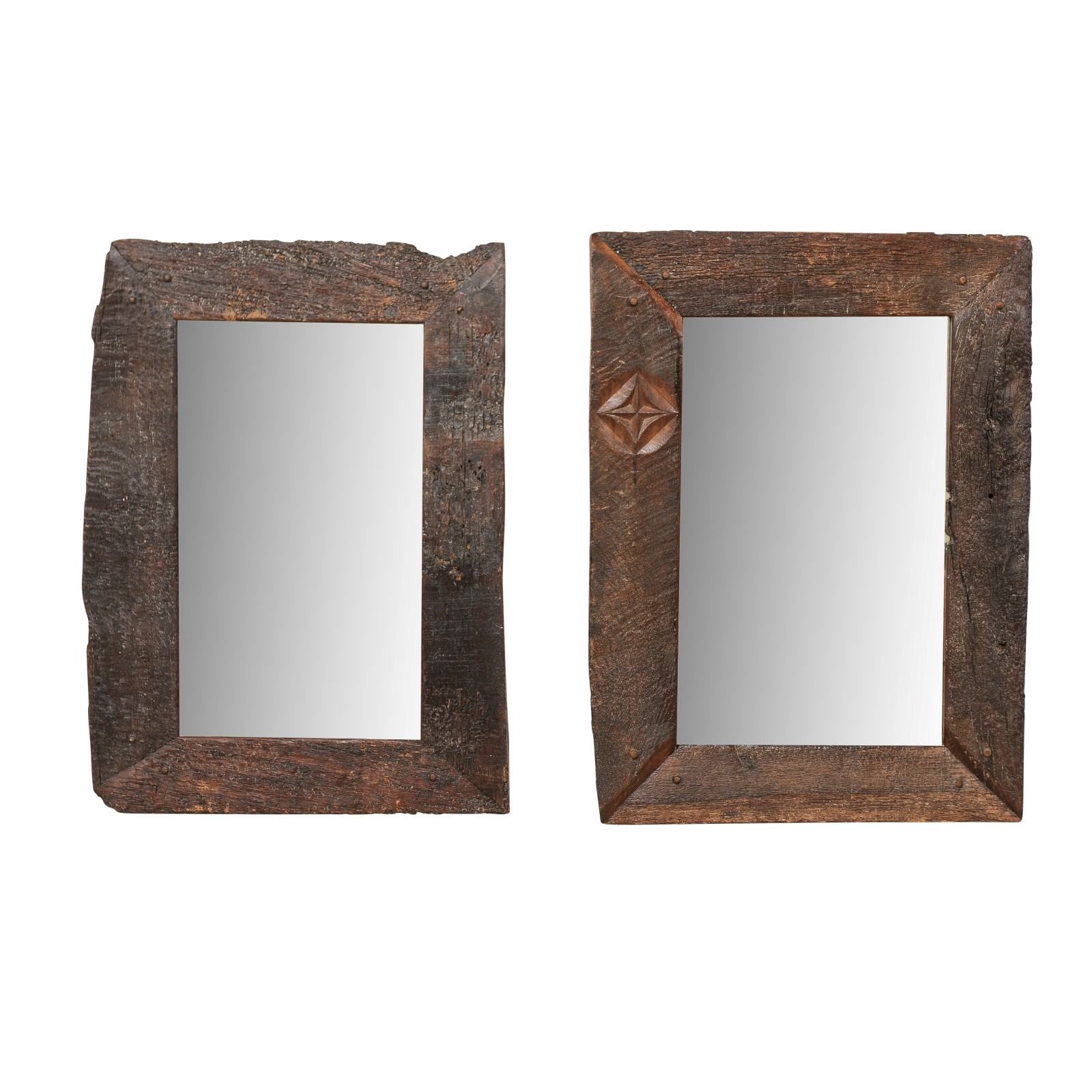 Single Reclaimed Spanish Board Mirror