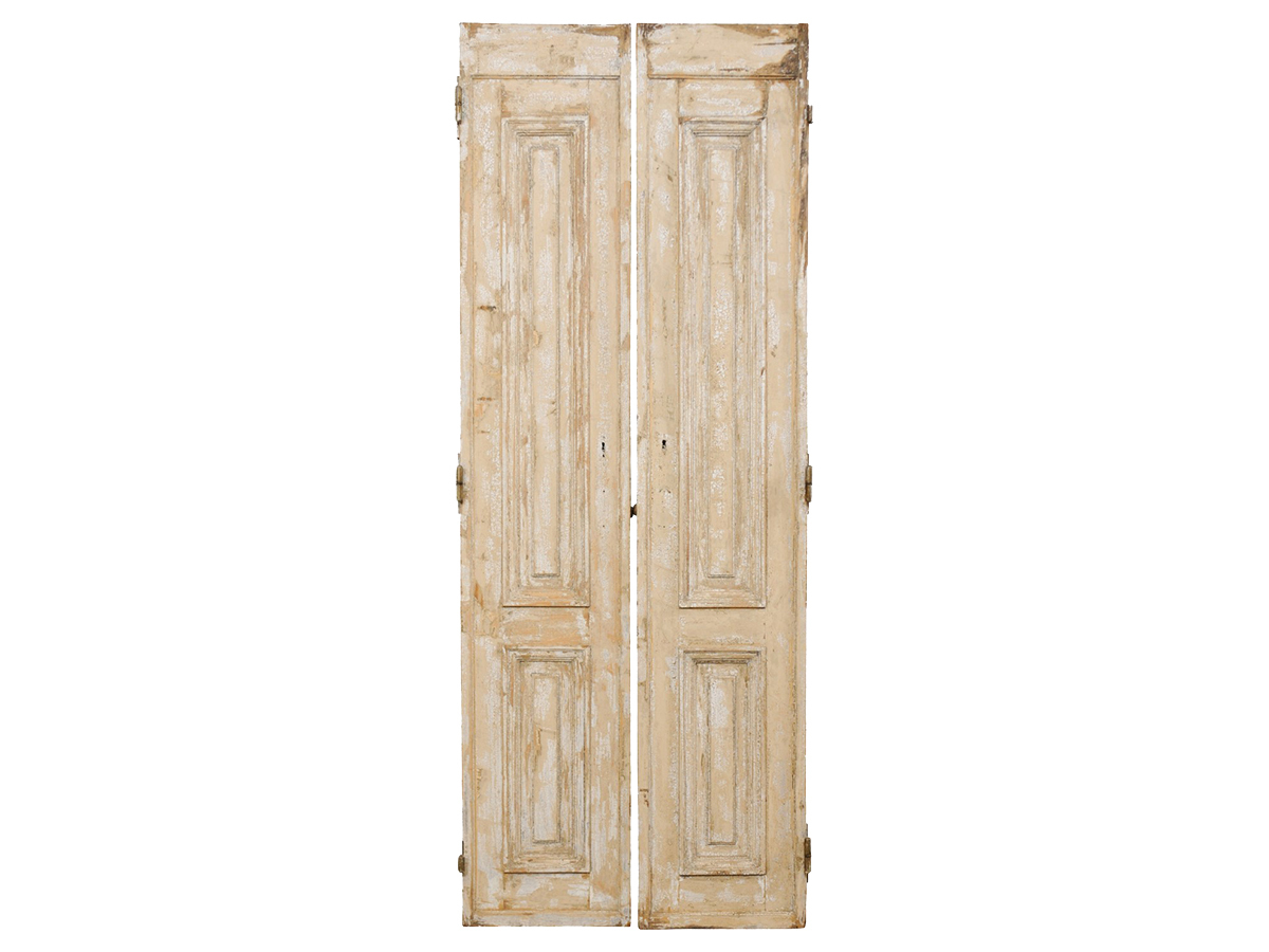 Pair French Panel Doors, 19th C.