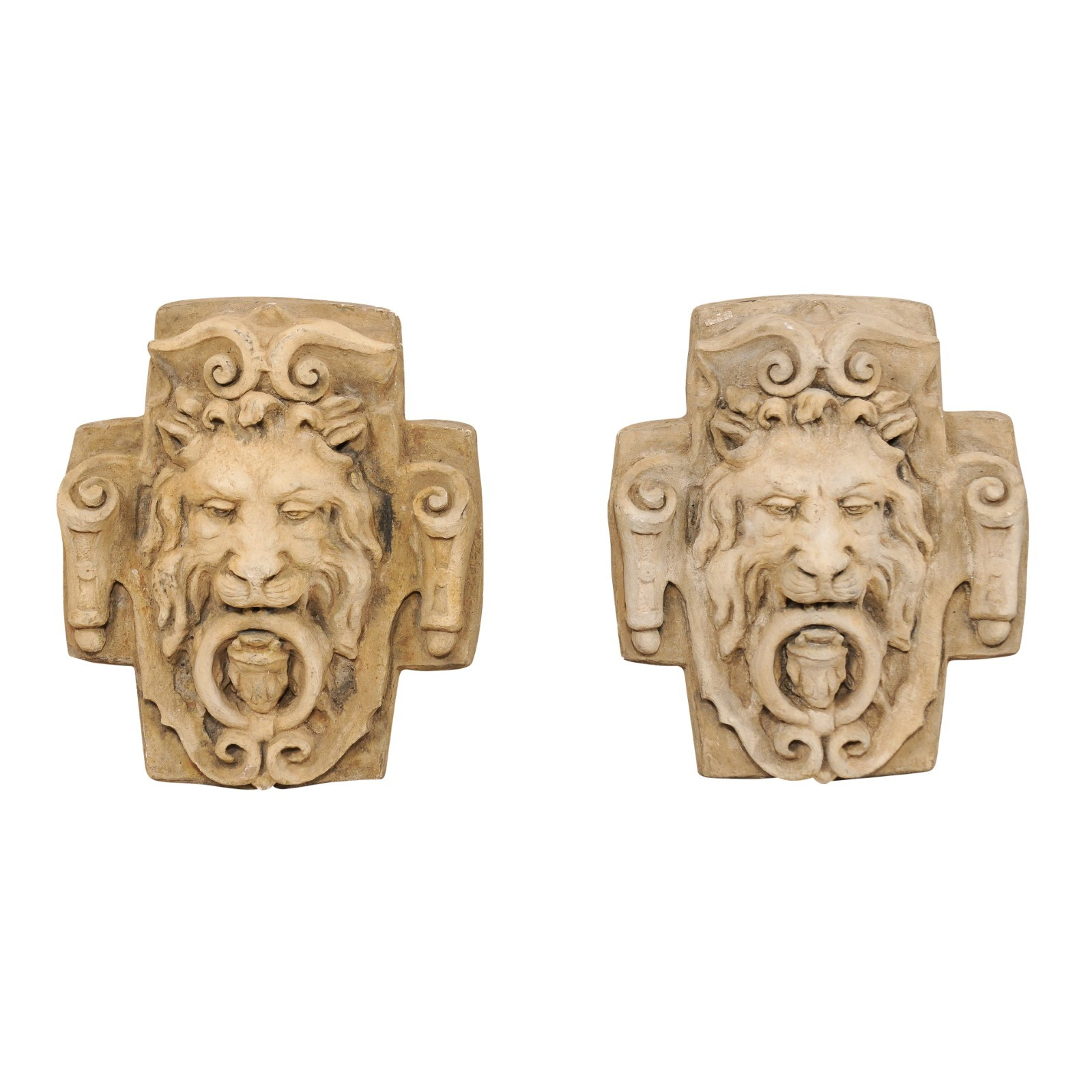 French Wall Mounted Lion Head Fountains