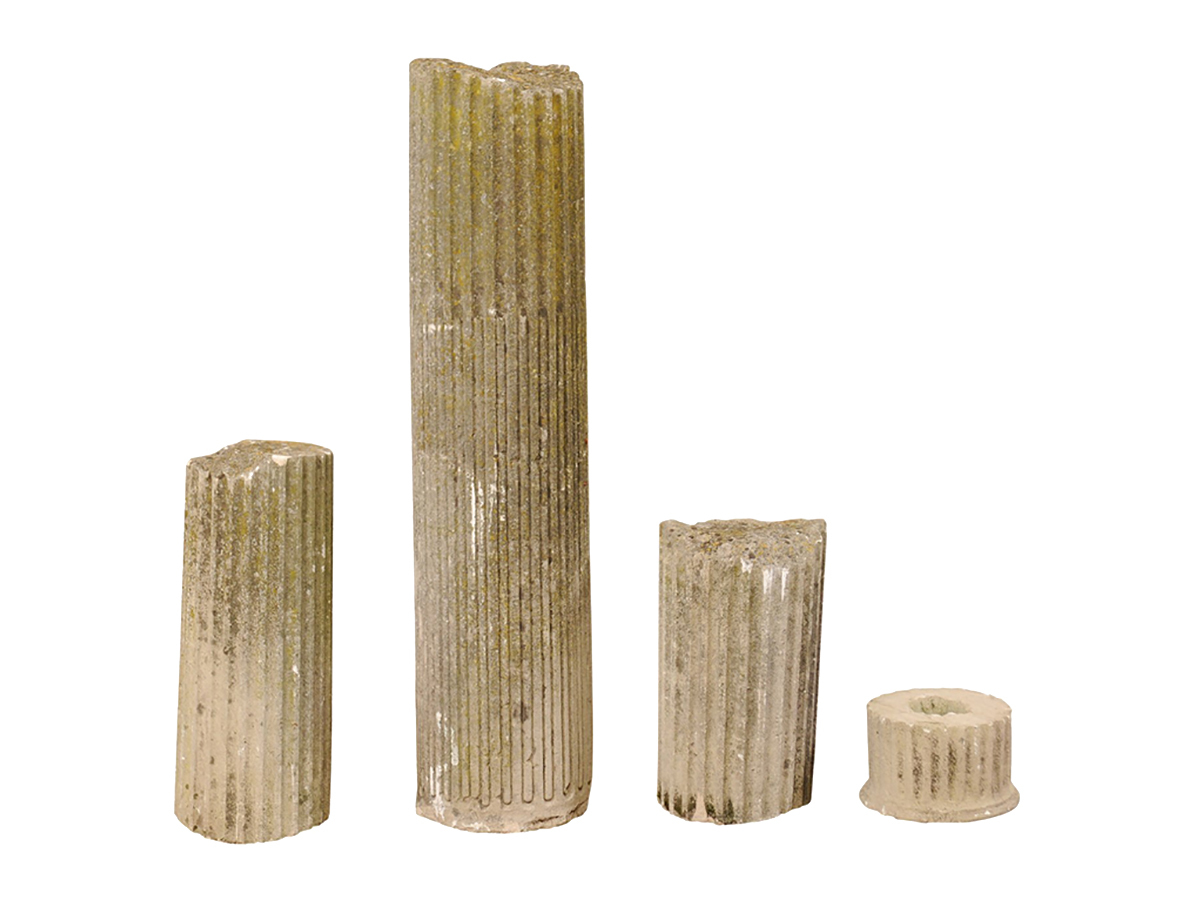 "Set of 4 French Column ""Ruins"", 19th C."