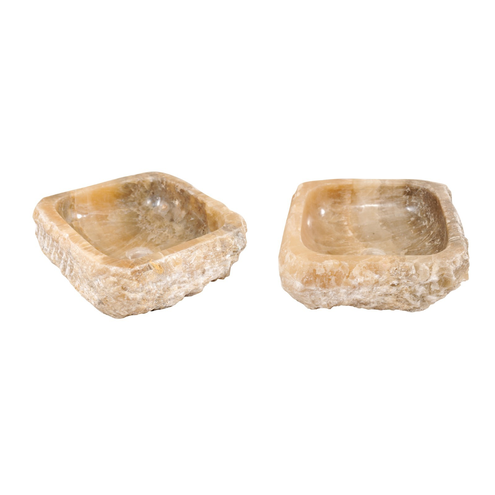 A Pair of Natural Onyx Sink Basins