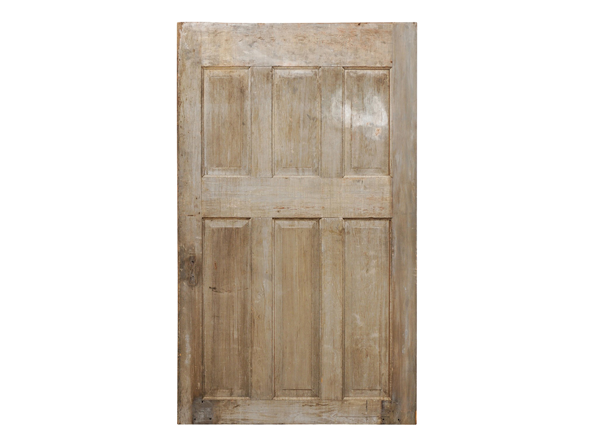 Single Antique Six-Panel Wood Door