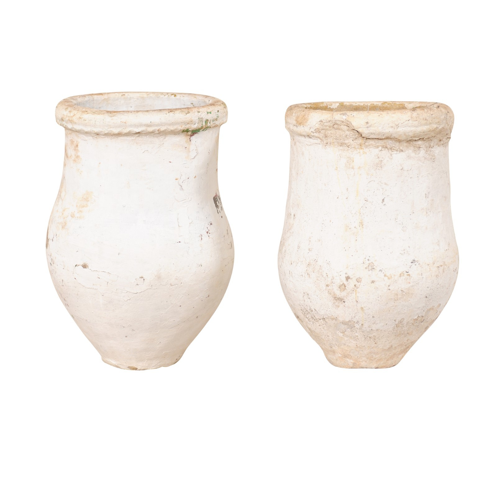 Pair 19th C. Clay Vessels from Spain