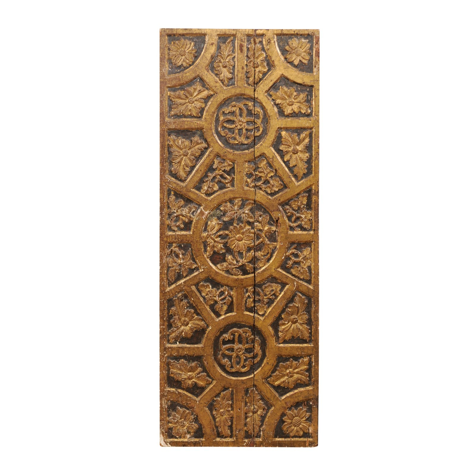 18th C. Italian Gilt & Carved Panel, 5.5 ft