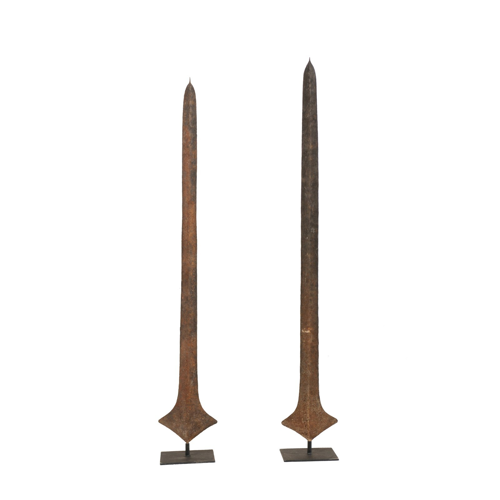 Pair African Sword Currencies on Stand