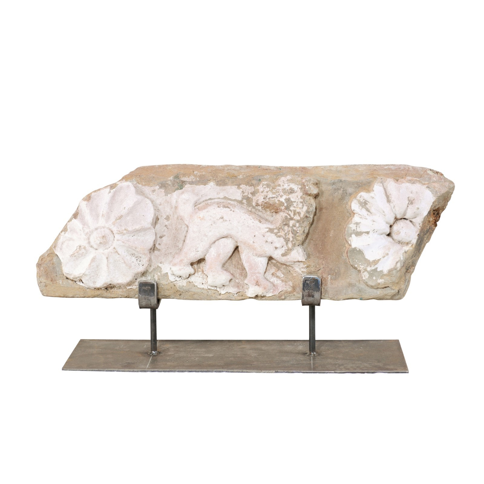 Fabulous Stone Fragment, 18th C. Spain