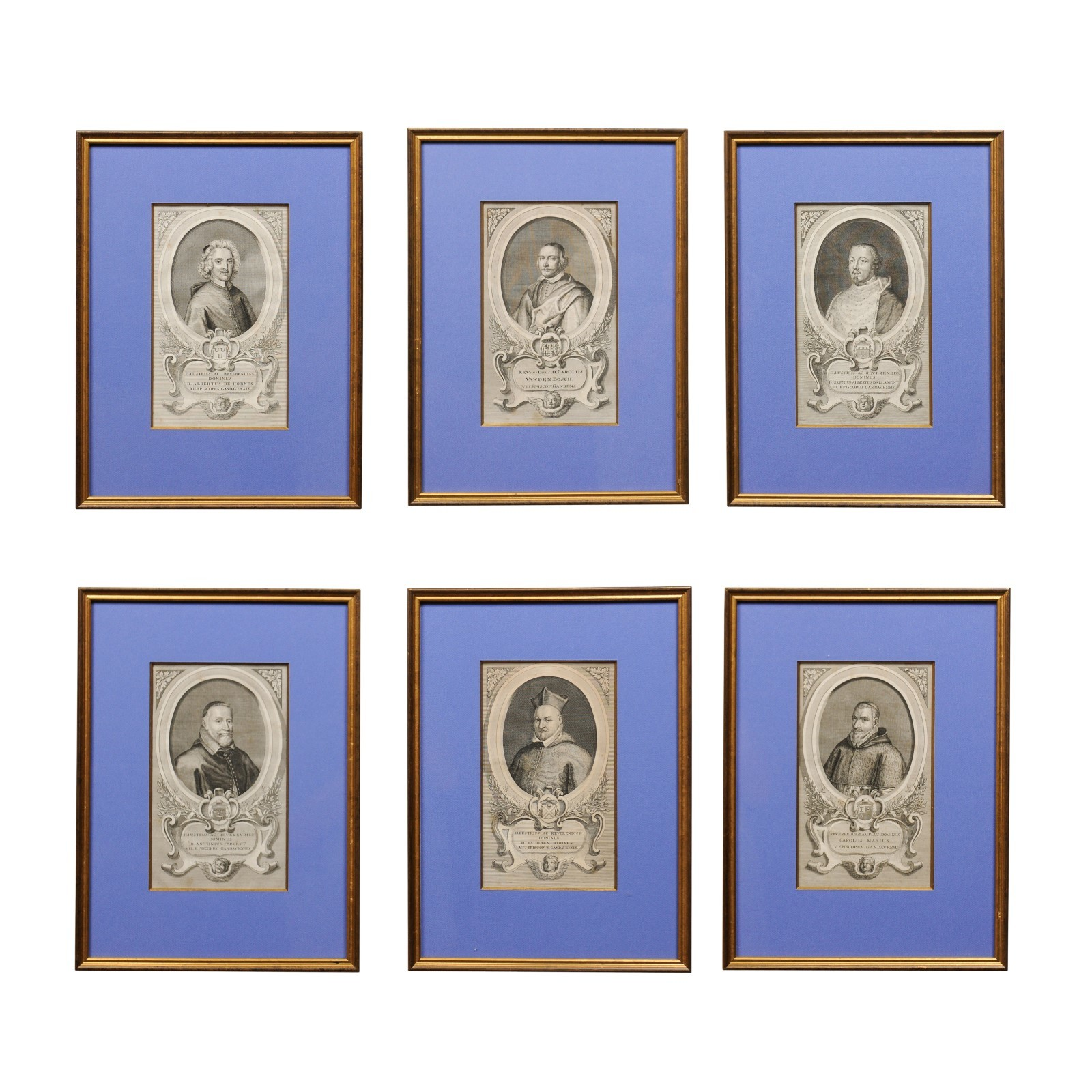 Set of 6 Framed Ecclesiastical Engravings