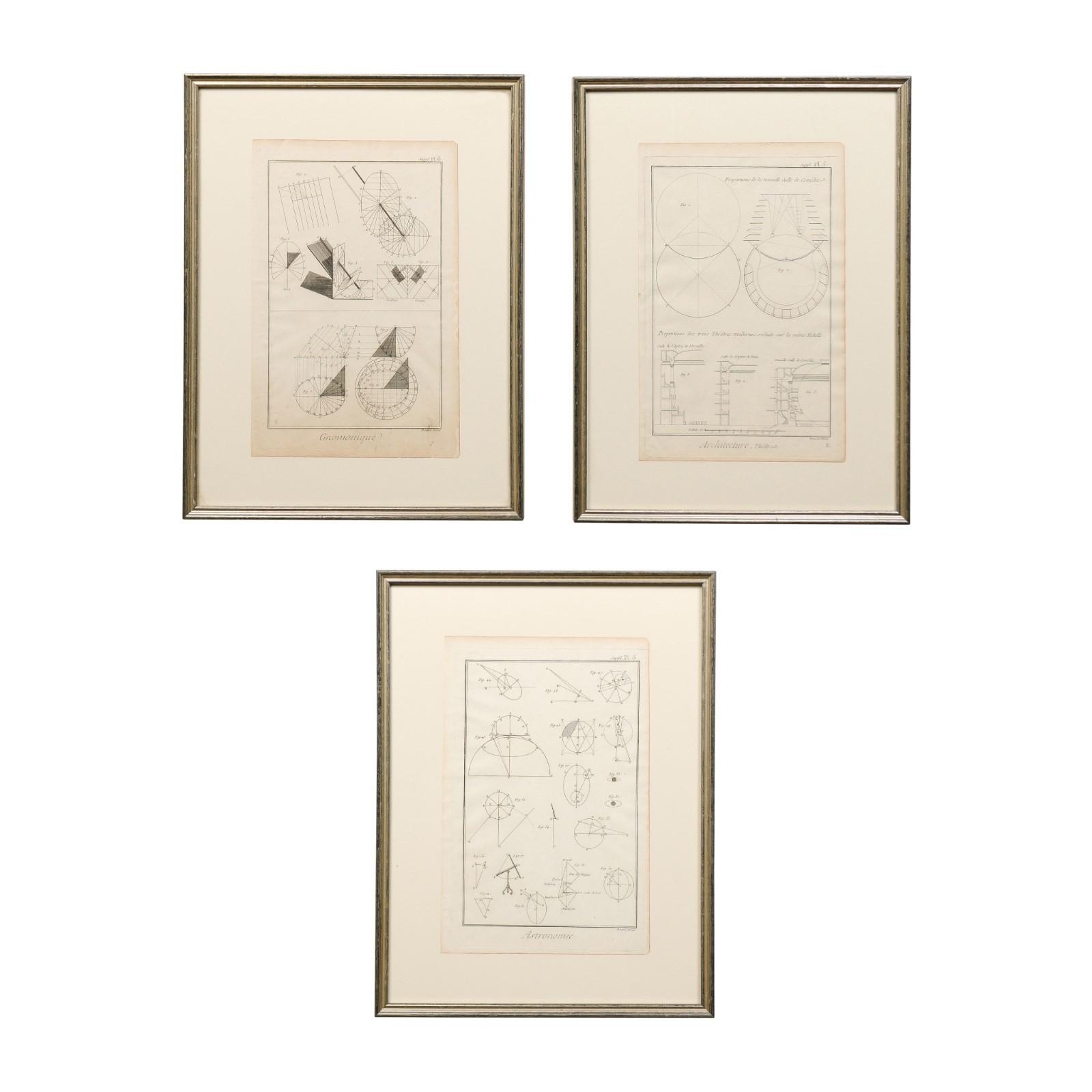 Collection of Framed 18th C. Renderings