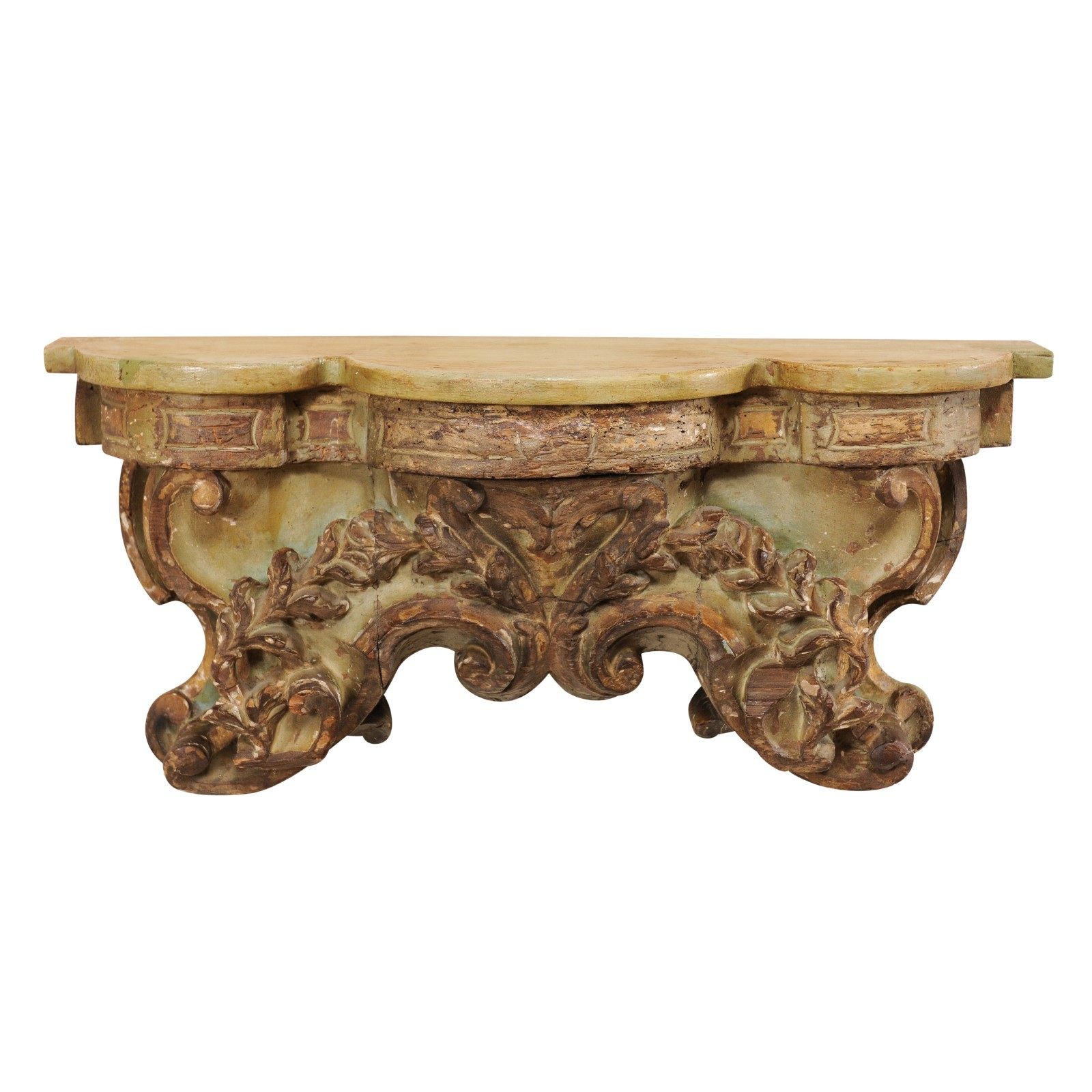 Ornately Carved Wall Shelf, 18th C. Italy