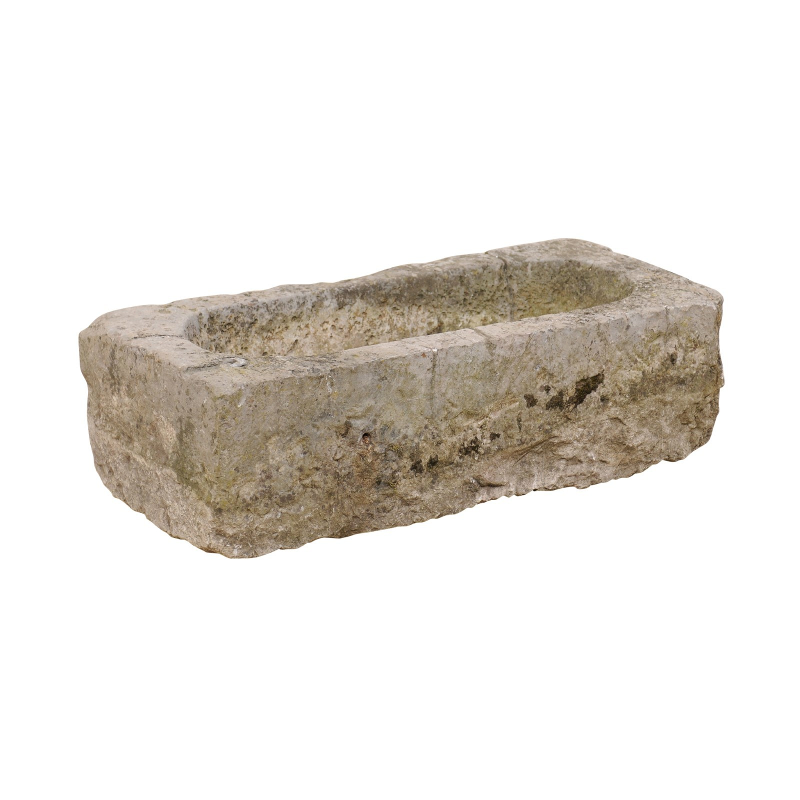19th C. Spanish Rectangular Stone Basin