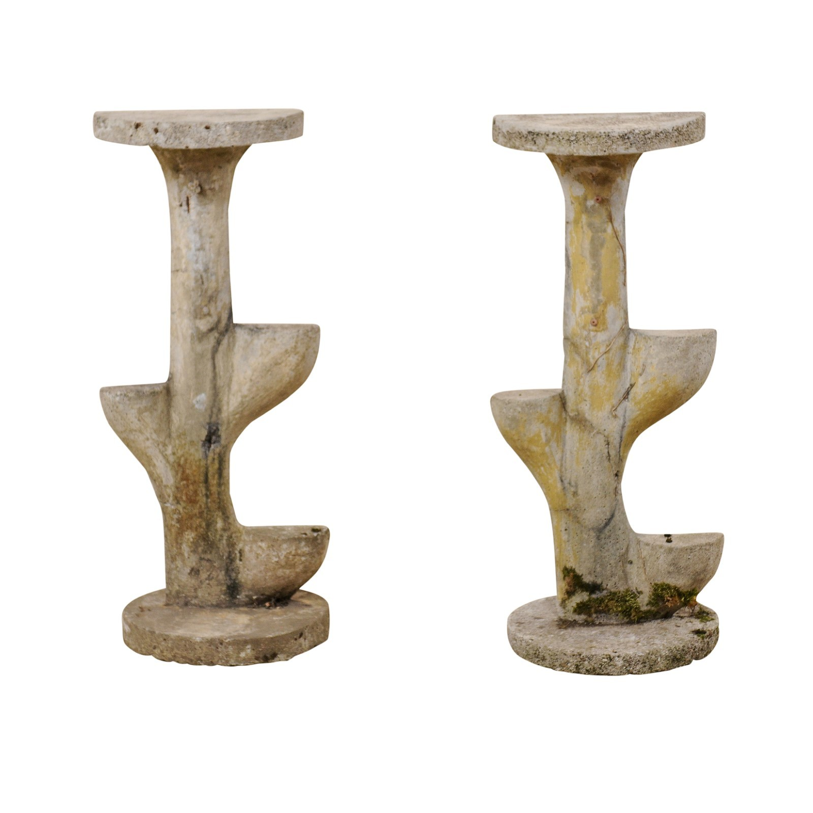 Pair French Garden Sculptural Accents