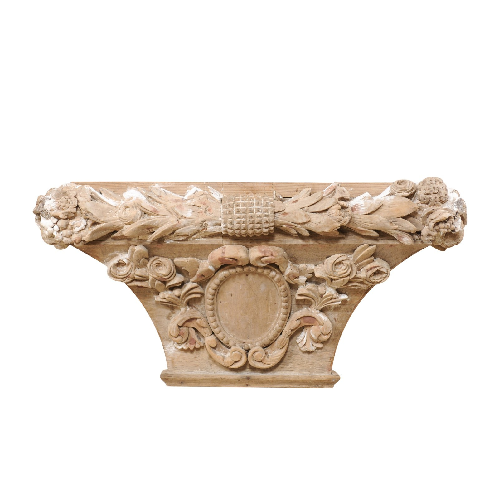 Spanish 19th C. Floral-Carved Wall Bracket