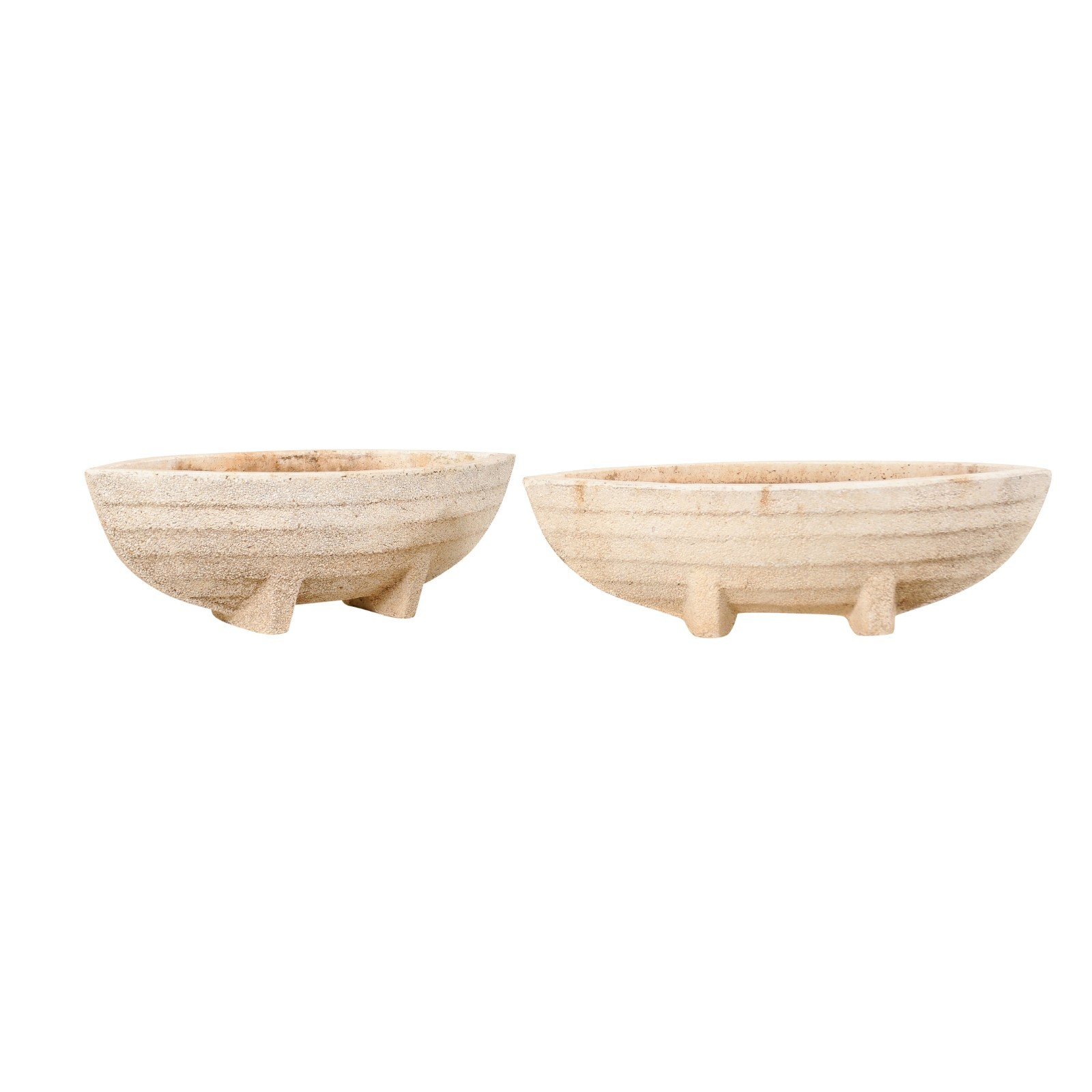 Pair European Boat Shaped Outdoor Planters