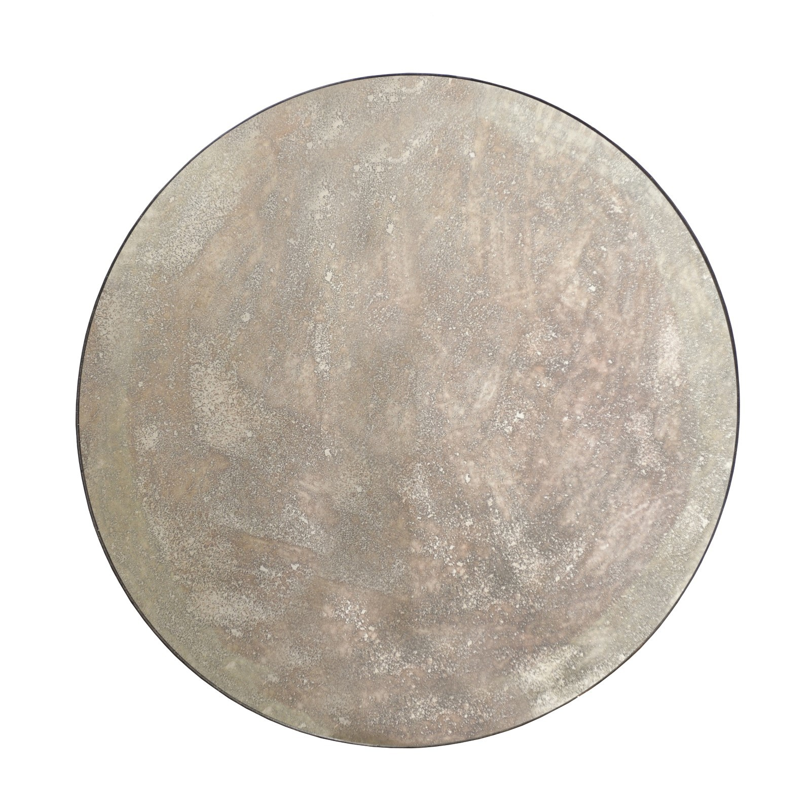 Large Round Antiqued Mirror, Customizable!
