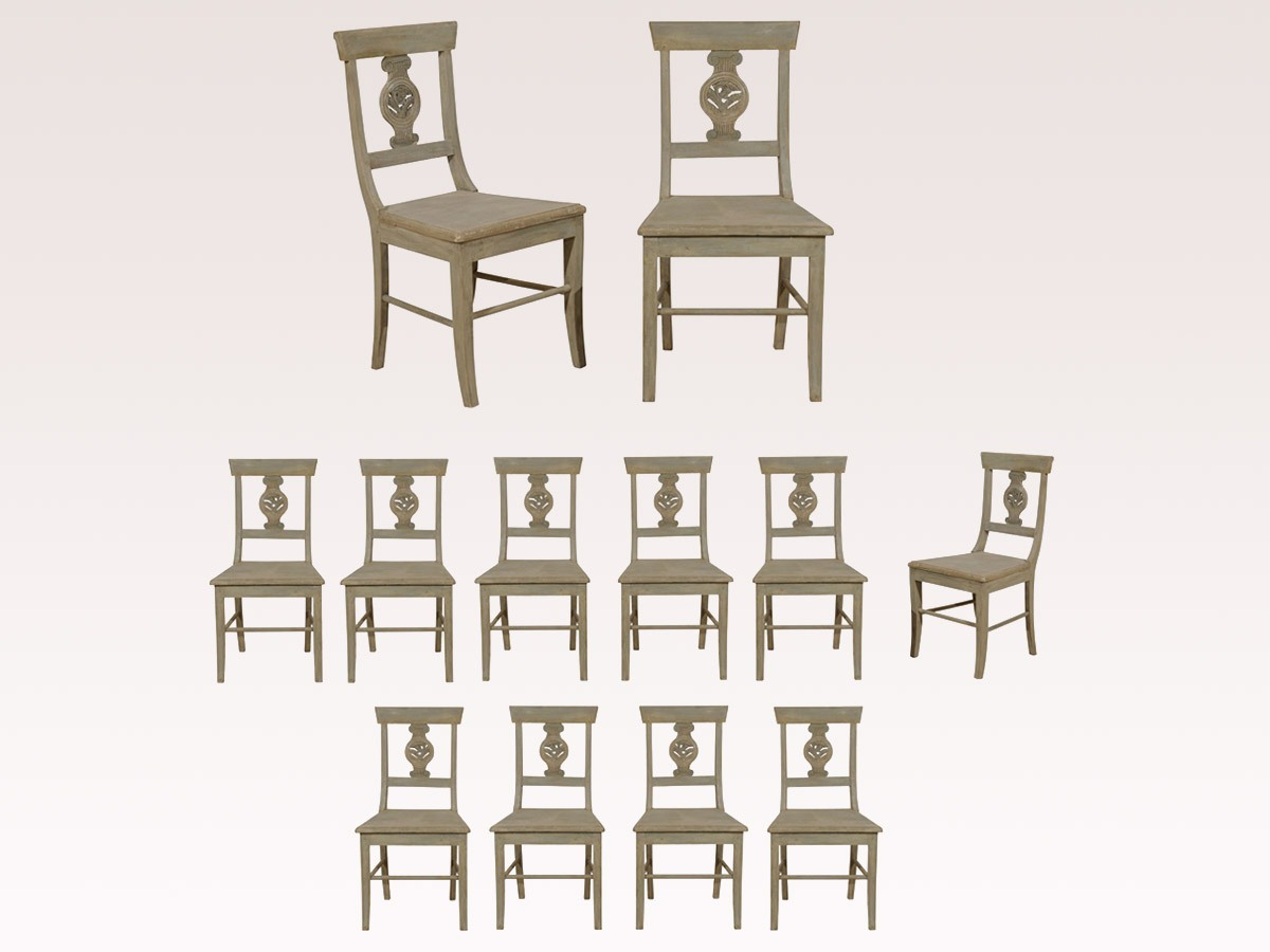 A Set of 12 Ionic Column Chairs