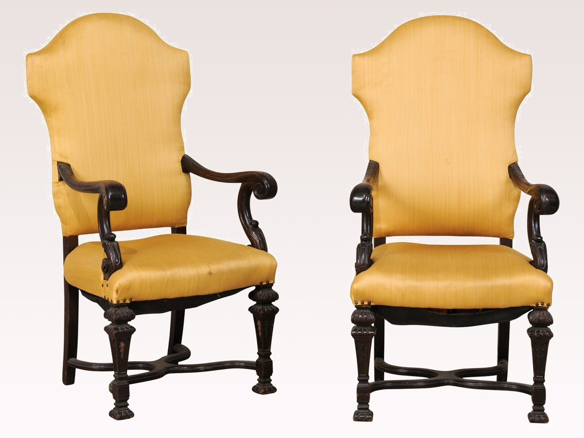 A Pair of Italian 19th C. Chairs