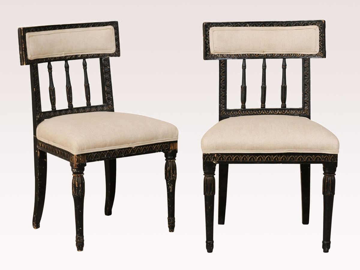 Pair Of Swedish Gustavian Chairs 372 A Tyner Antiques