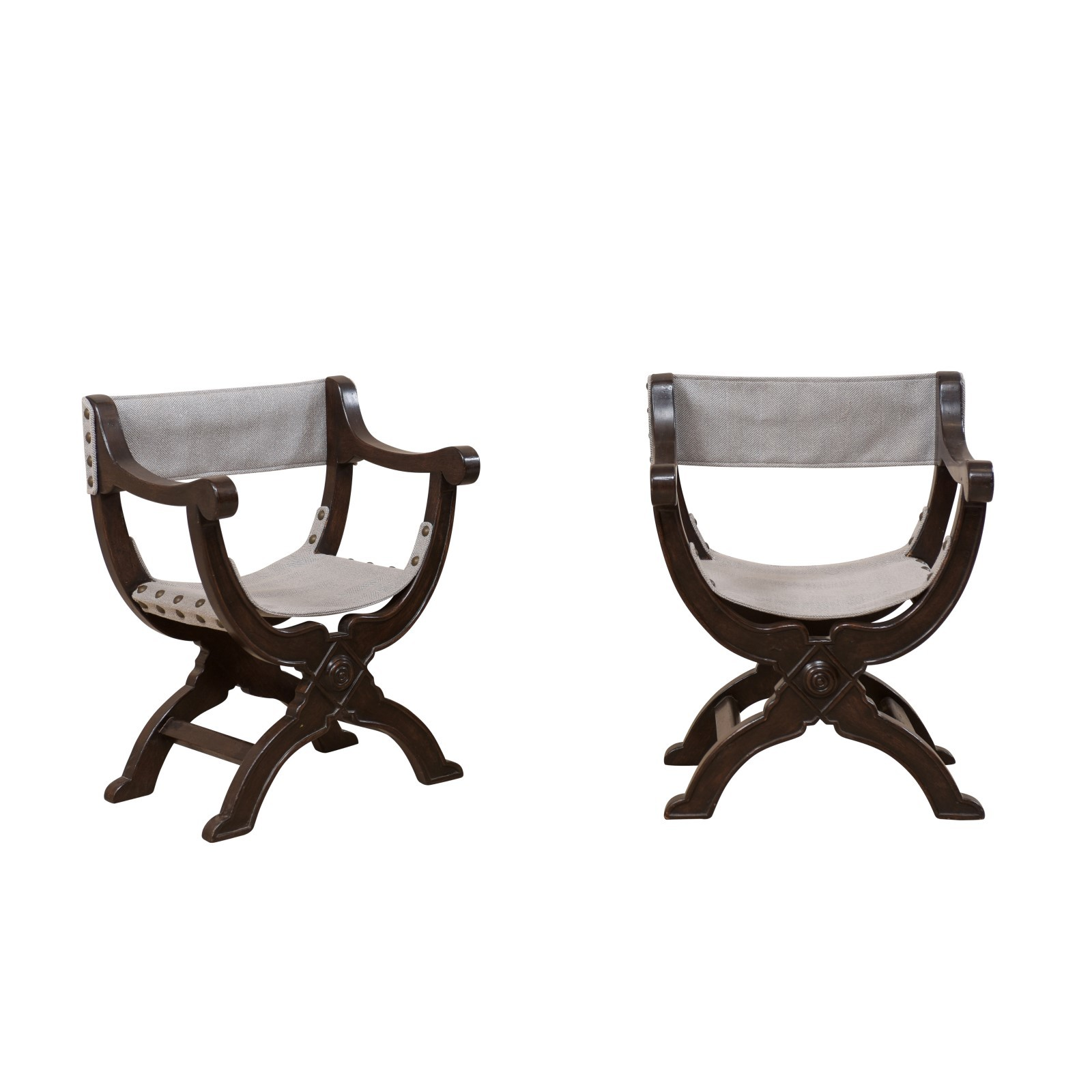 Italian Antique Dante Style Chairs