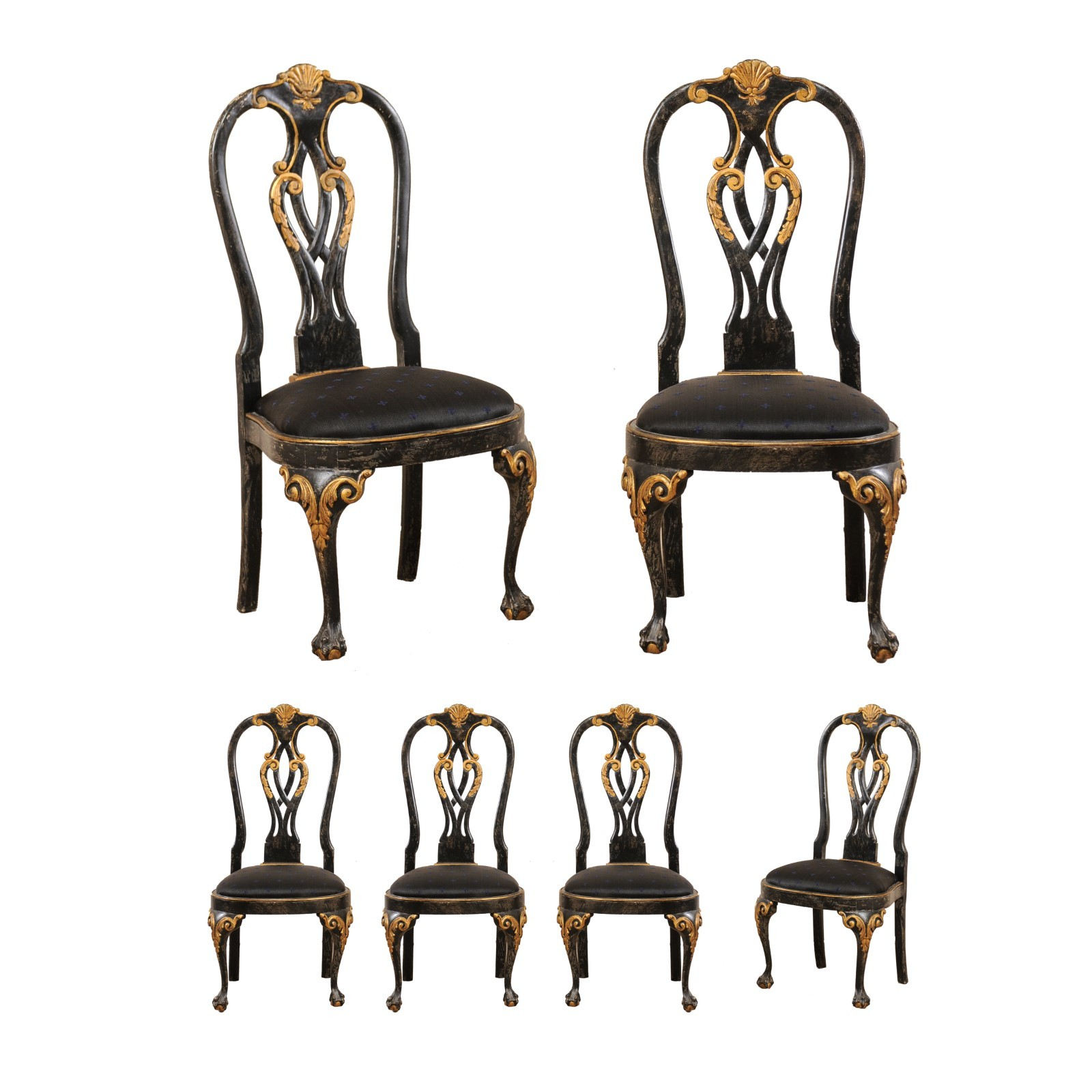 Set of 6 Portuguese Style Side Chairs