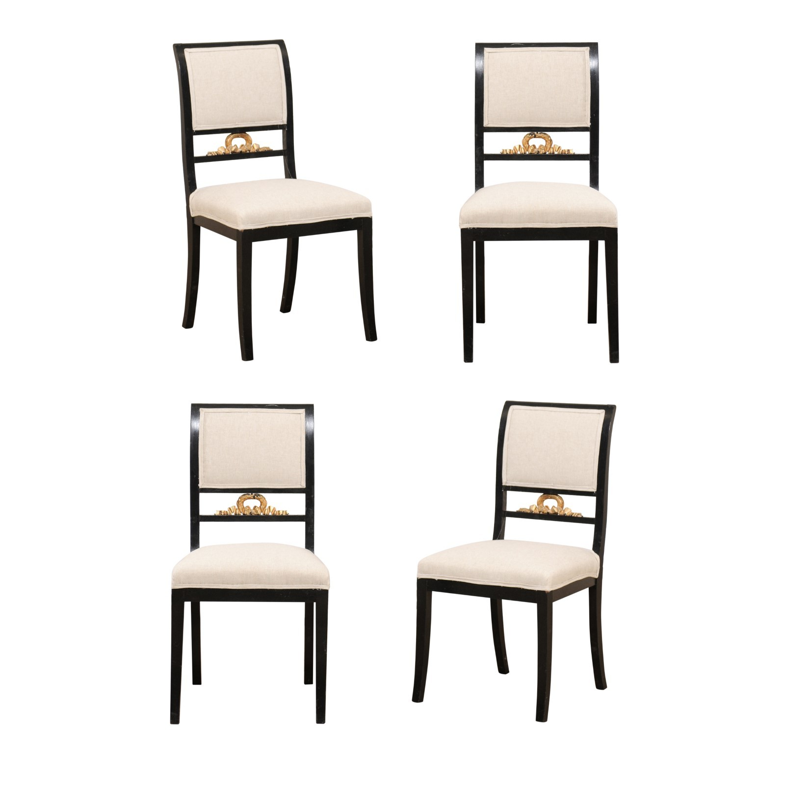 Set of 4 Swedish Empire Side Chairs