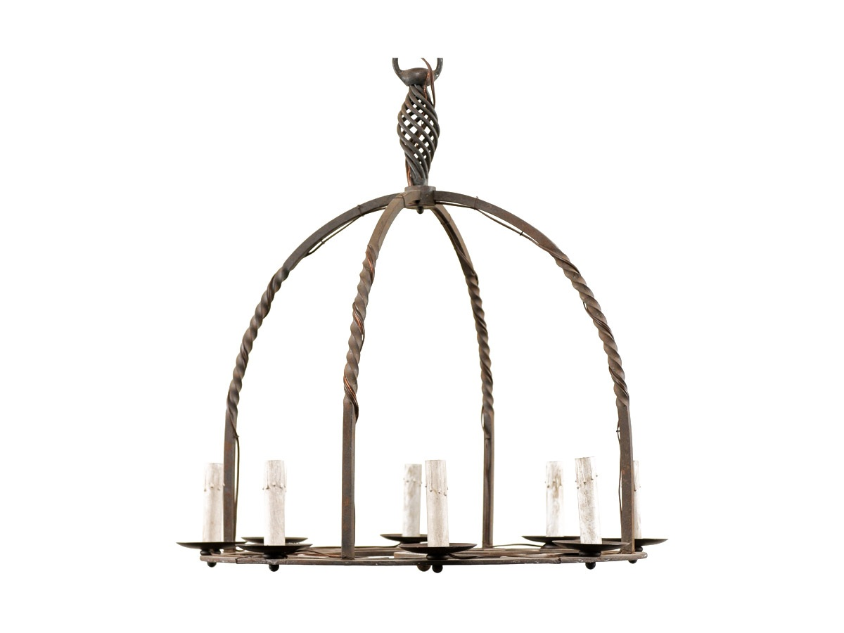 A French 19th C. Iron Chandelier