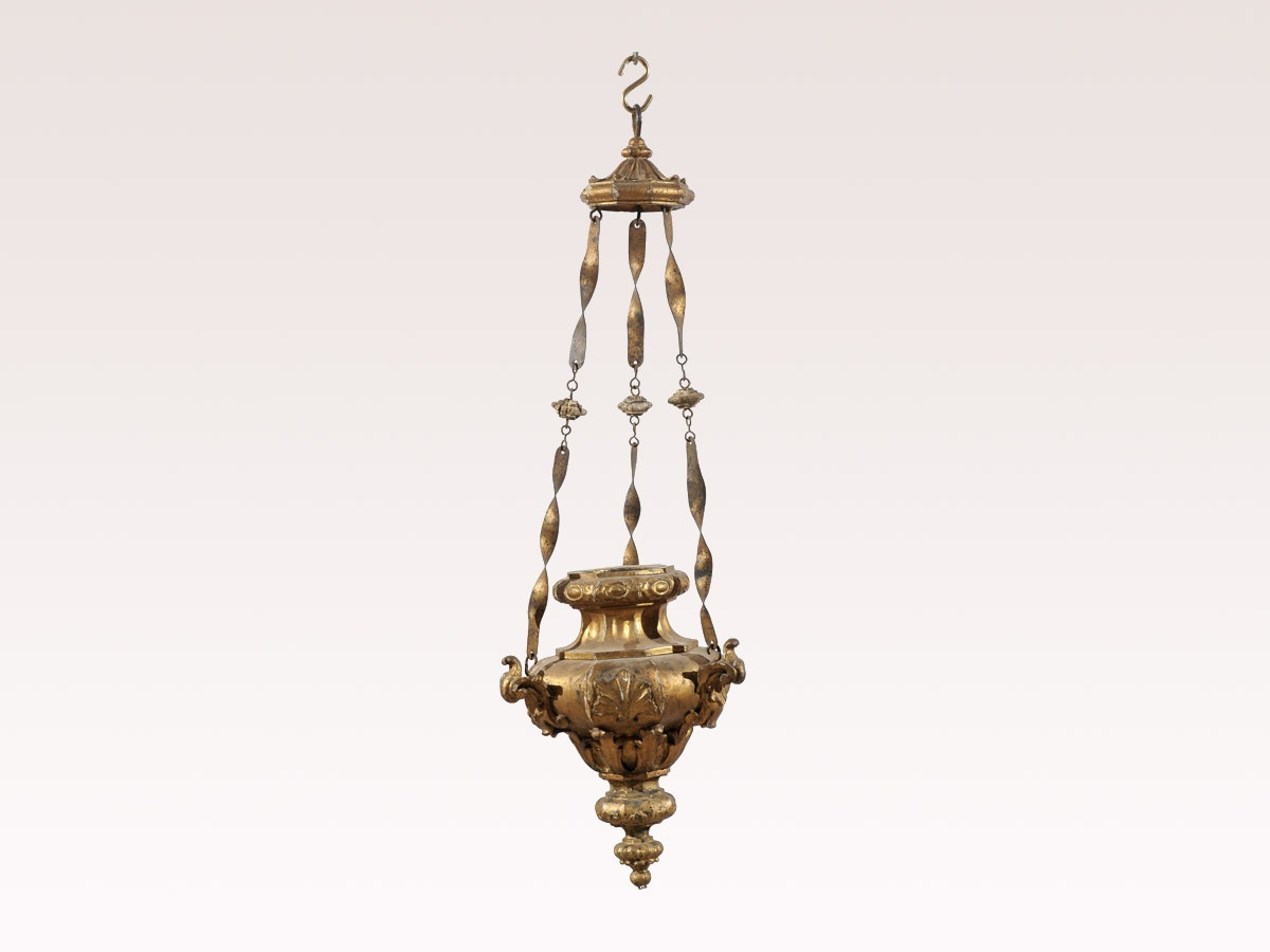 19th C. Italian Giltwood Hanging Light