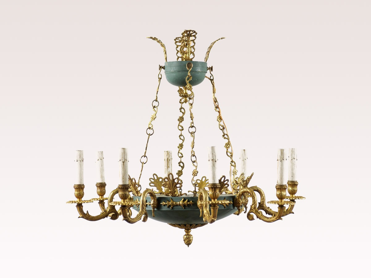 Swedish Empire Style Chandelier