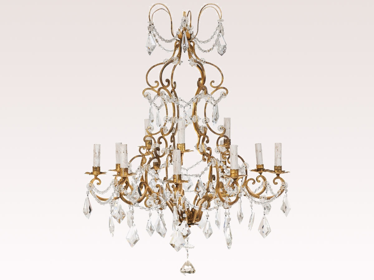 French 2 Tier Crystal Chandelier 463 A Tyner Antiques