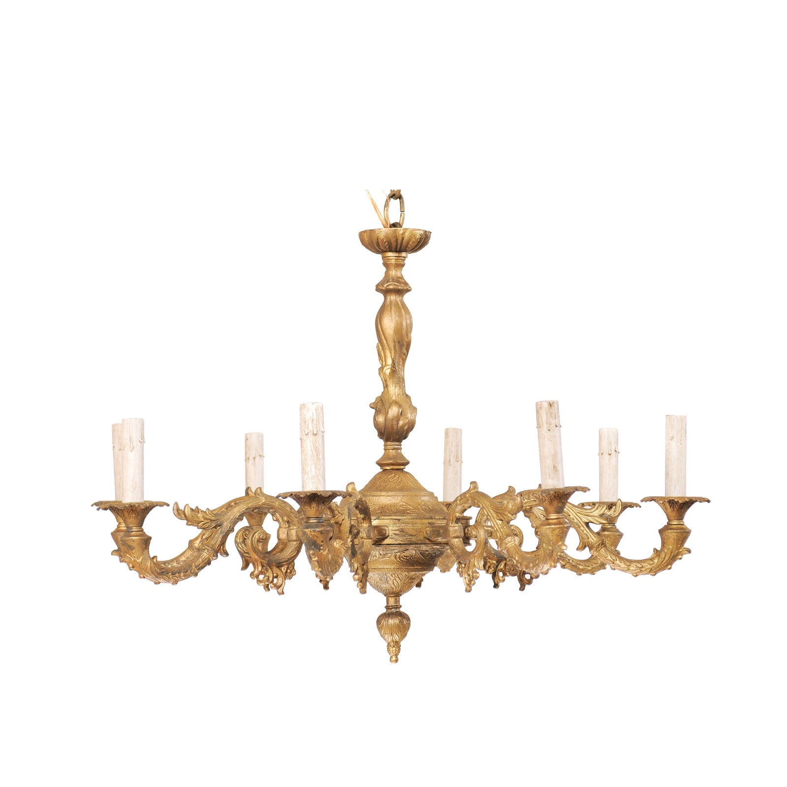 French Painted Metal Chandelier