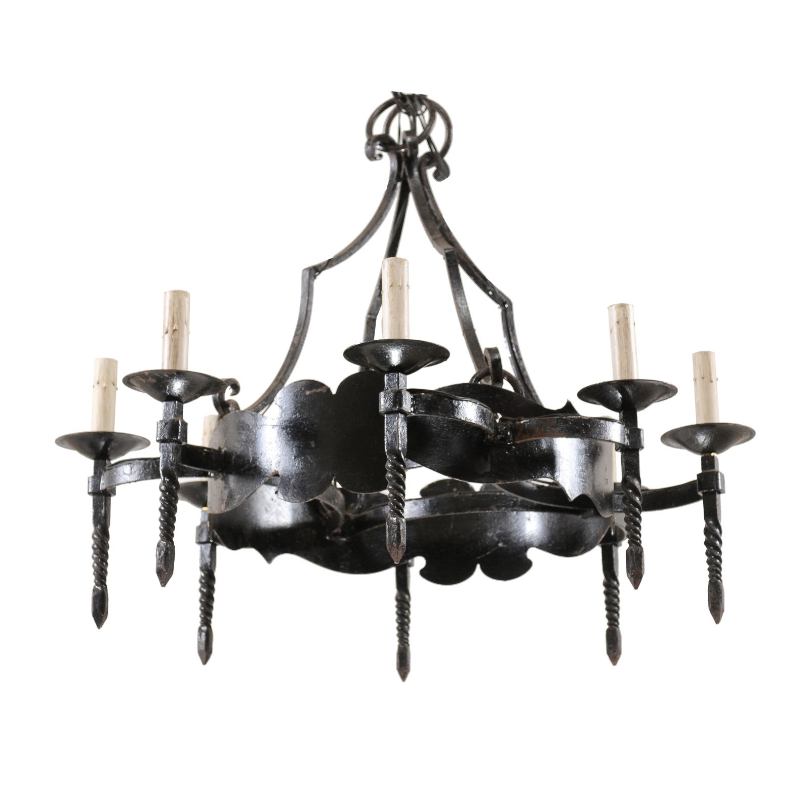 French Ring Chandelier w/Torch Lights
