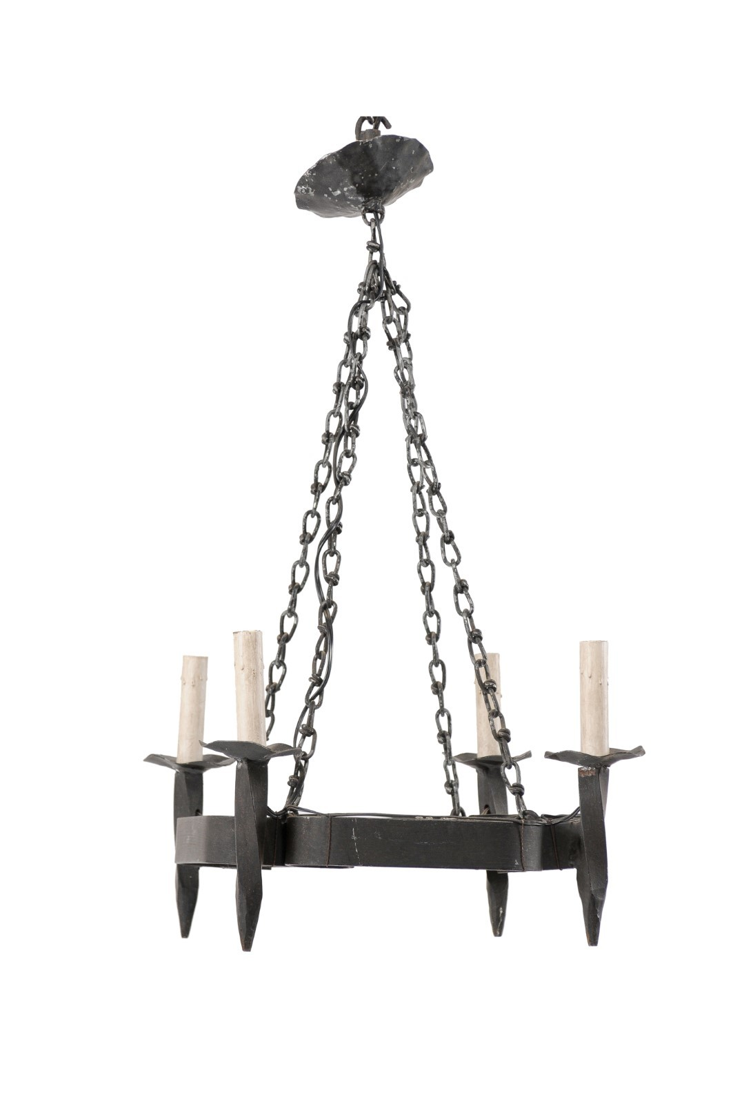 French Square-Shaped Iron Hanging Light