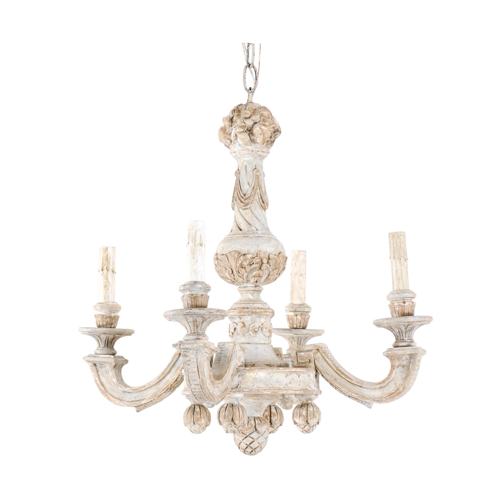 A Beautifully Carved French Chandelier
