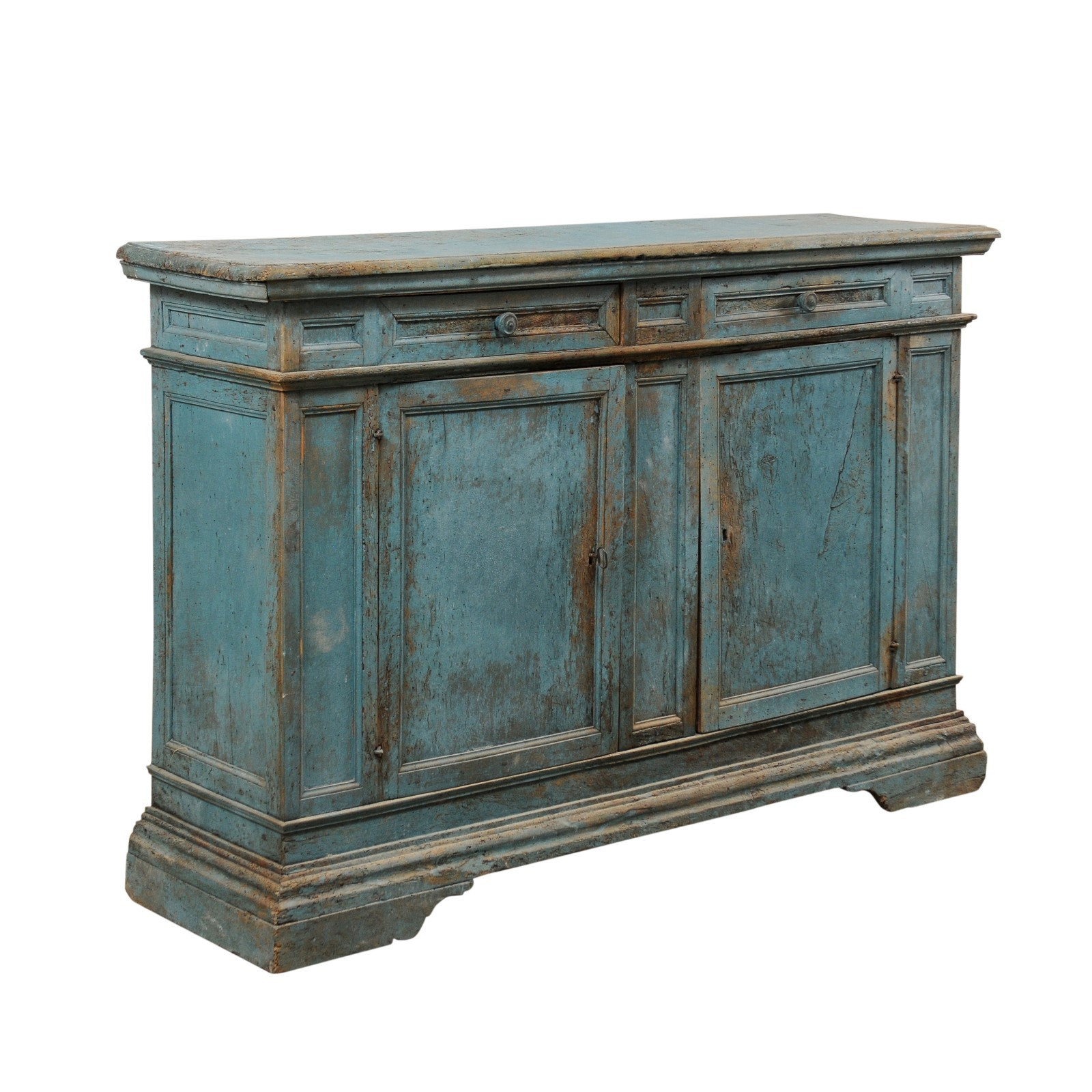 Italian Cabinet in Beautiful Blue, 19th C.