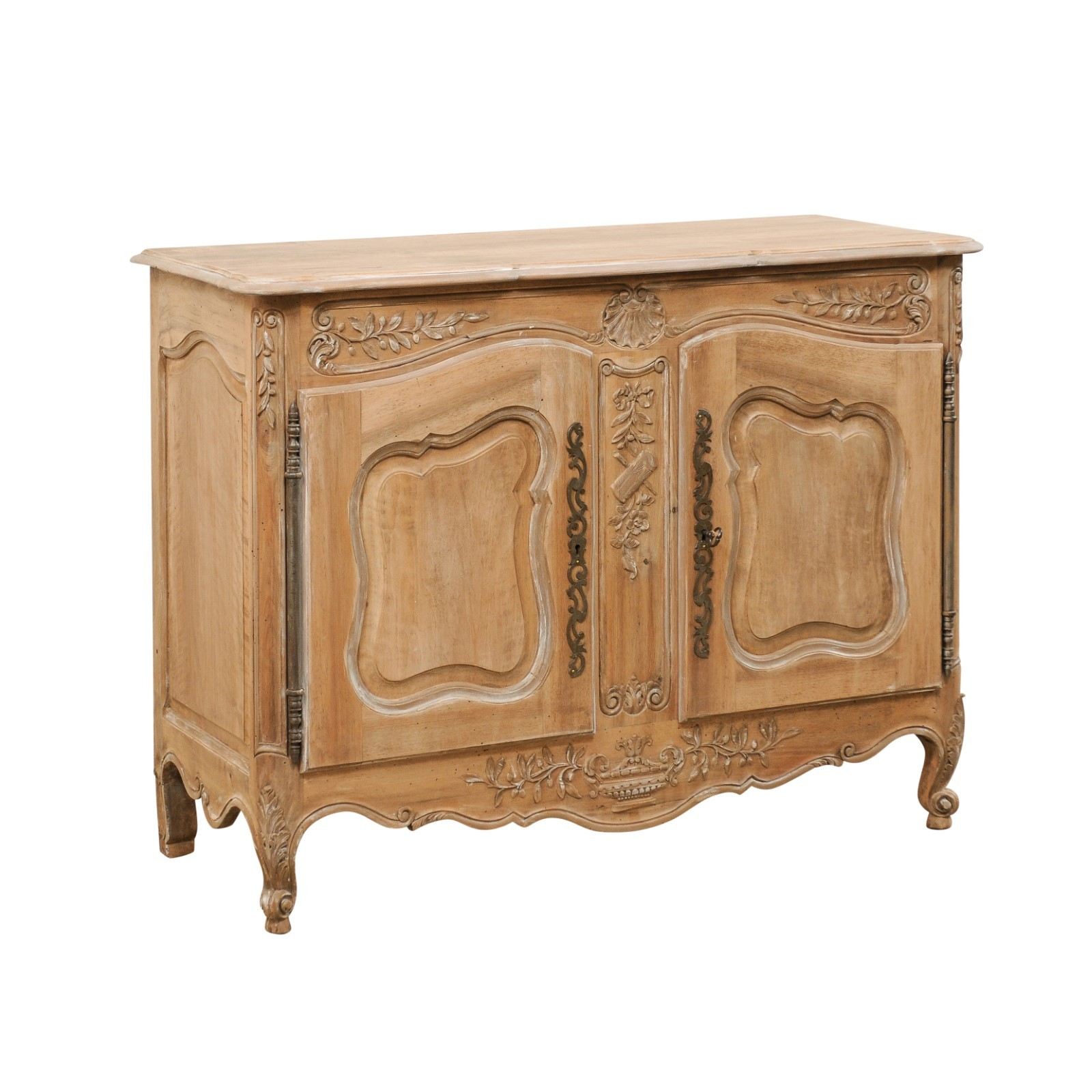 French Cabinet w/Beautifully Carved Accents