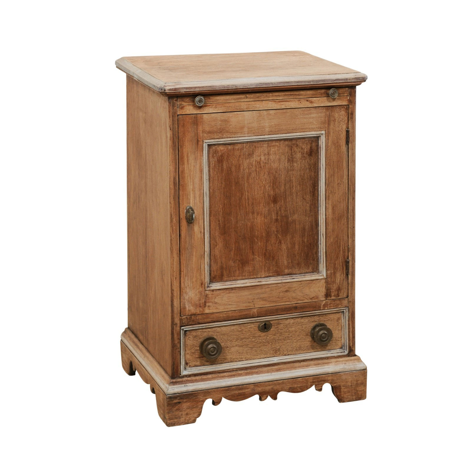 Petite Wood Storage Cabinet, 19th C. Italy