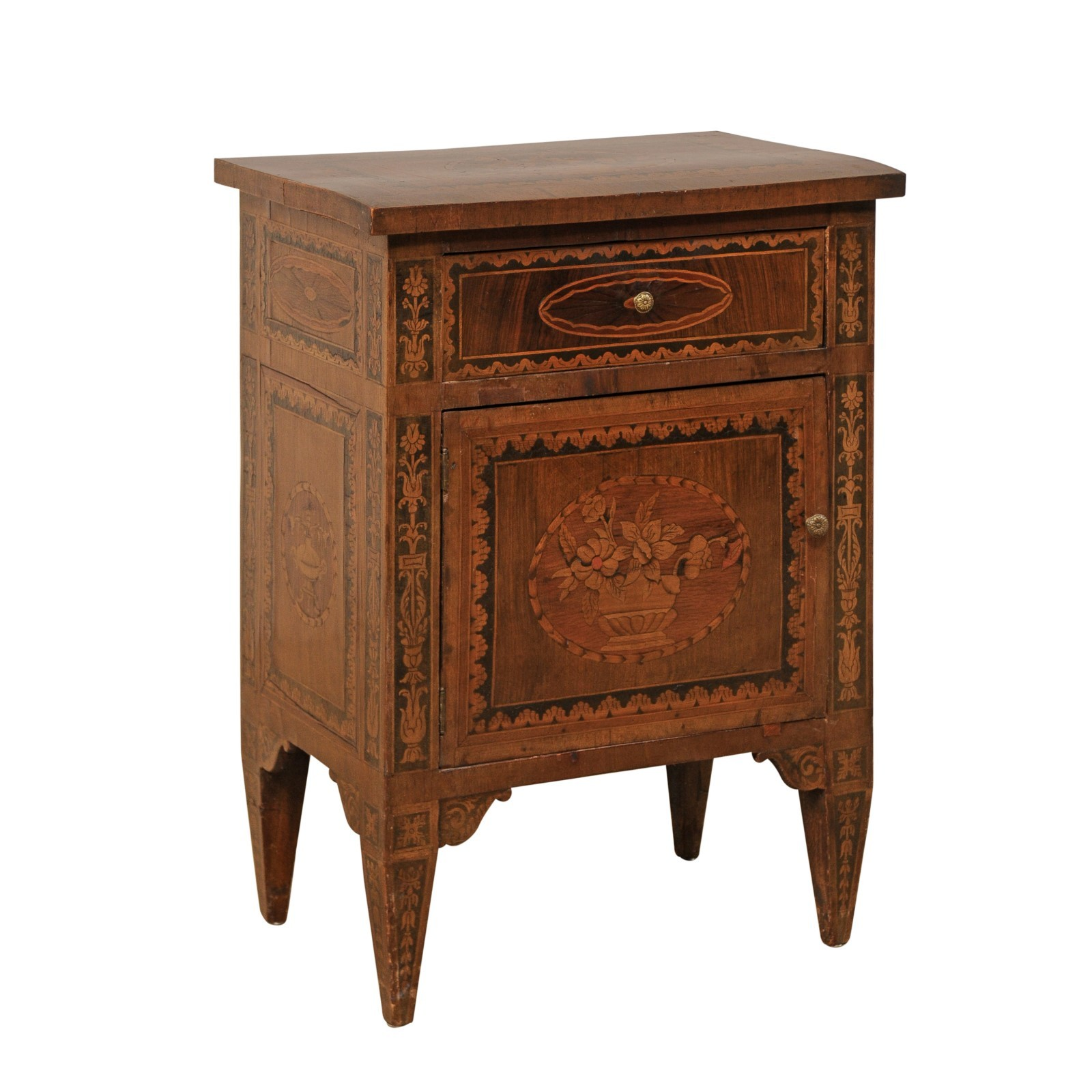 Italian Petite Commode w/Lovely Marquetry