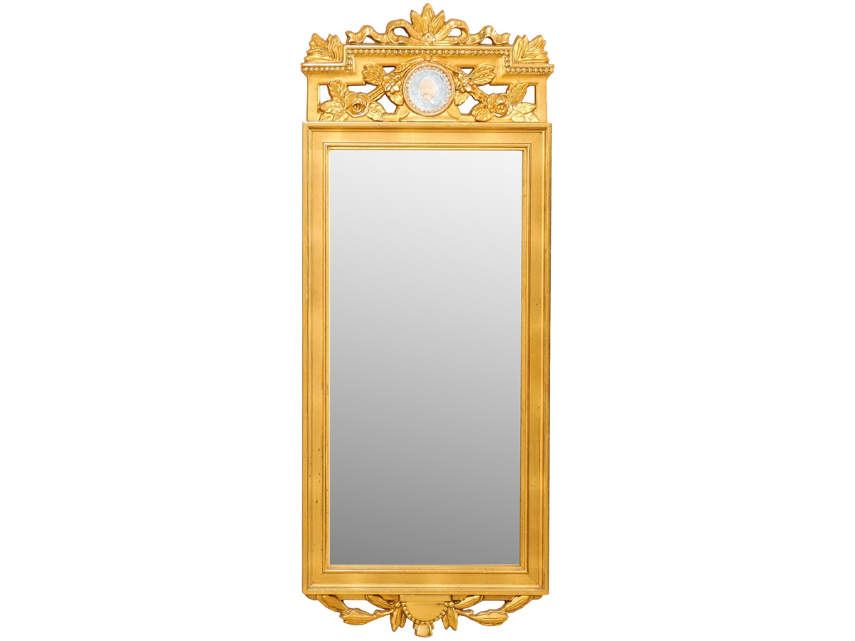 Swedish Neoclassical Gilt Mirror