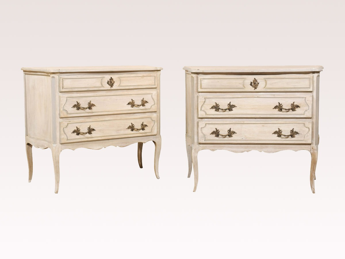 Pair of Painted 3-Drawer Chests