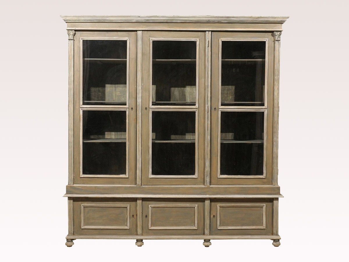 French 19th C. Glass Door Cabinet