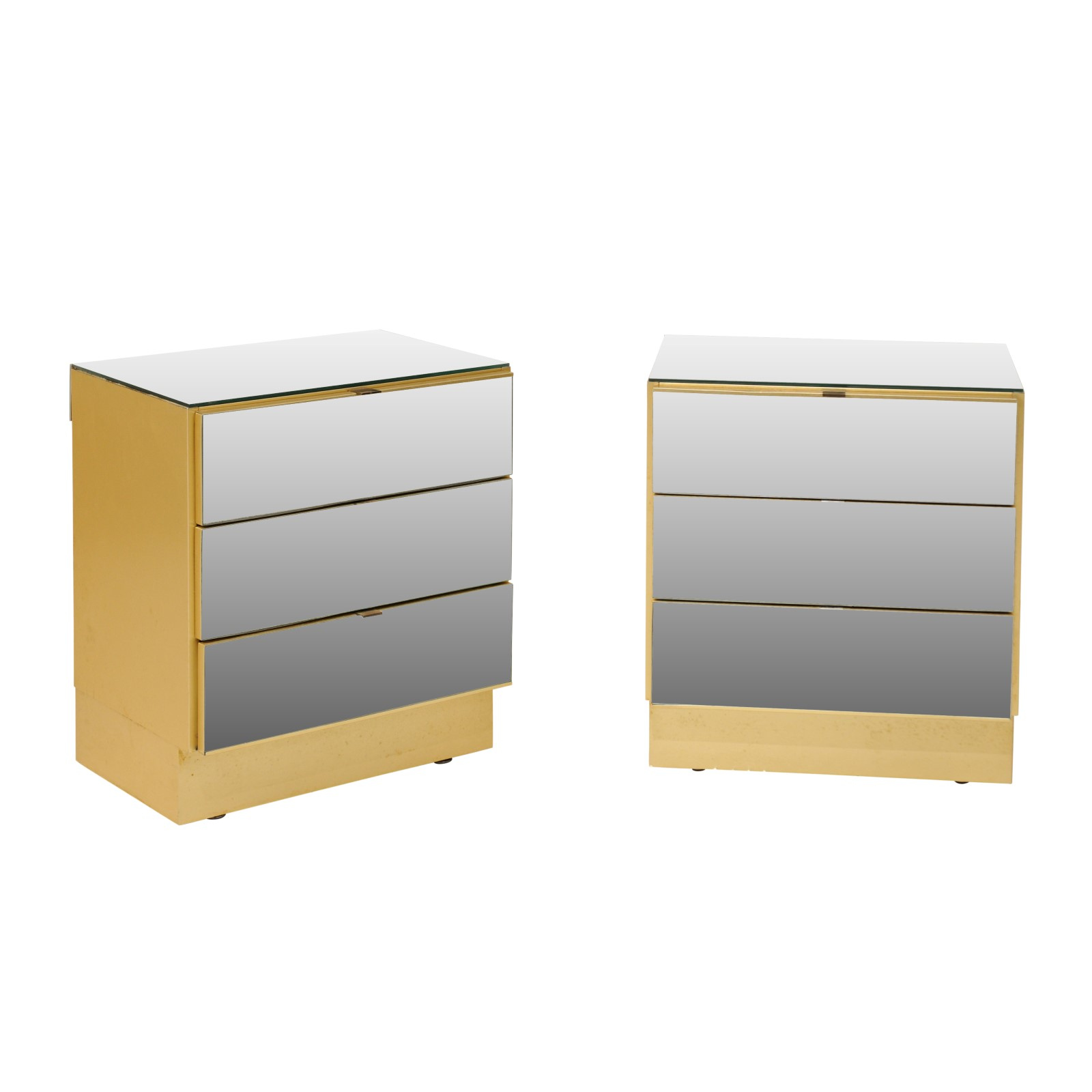A Pair of Modern Mirrored Chests