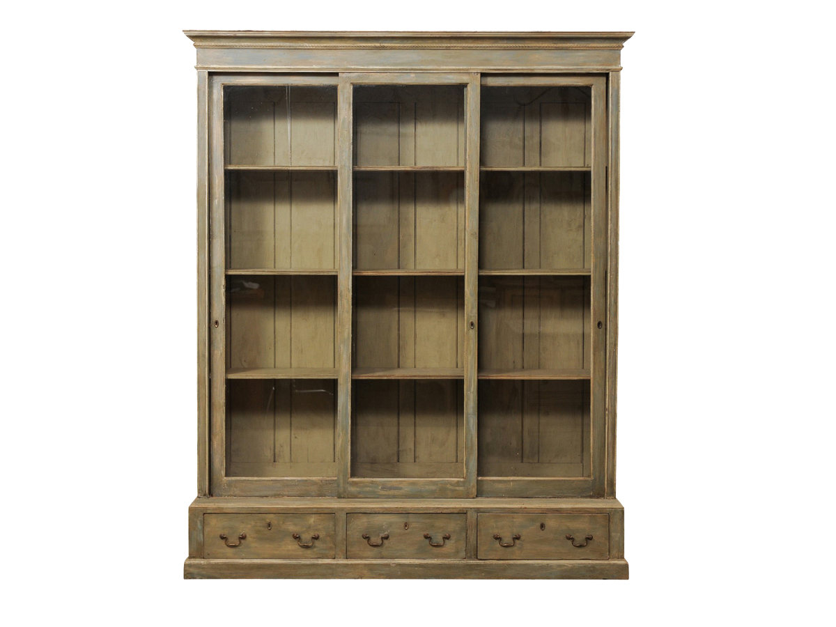 Large French Glass Door Bookcase 786 A Tyner Antiques